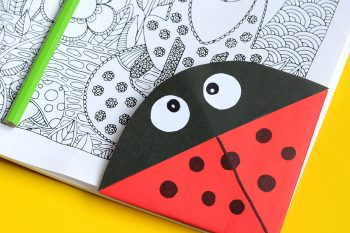 Ladybug Corner Bookmark – Origami for Kids