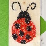 String art ladybug craft for kids