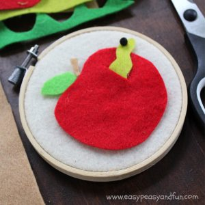 Apple Craft for Back to School - Simple Felt Crafts for Kids