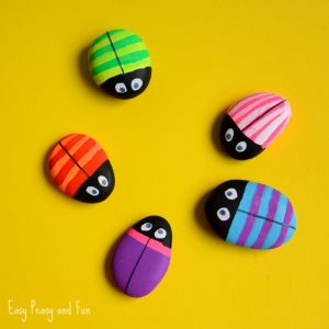 Bug Painted Rocks Craft