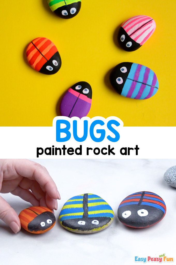 Bugs Painted Rock Art for Kids