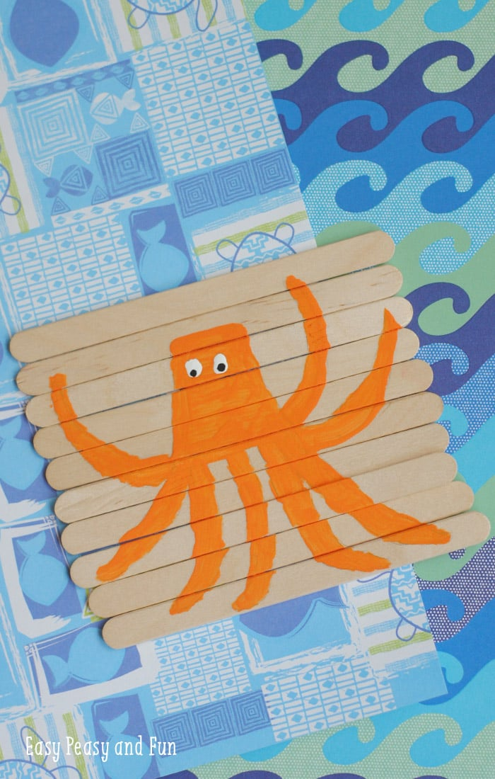 Craft Stick Octopus Puzzle for Kids