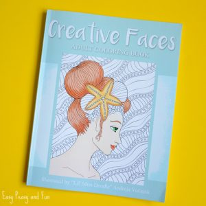 Creative Faces Adult Coloring-Book