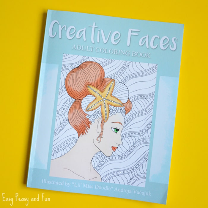 Creative Faces Adult Coloring Book
