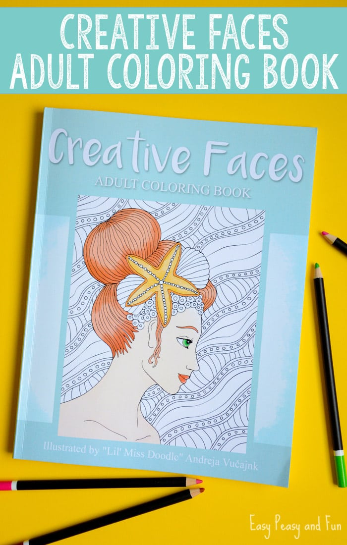 Creative Faces Coloring Book for Grown Ups