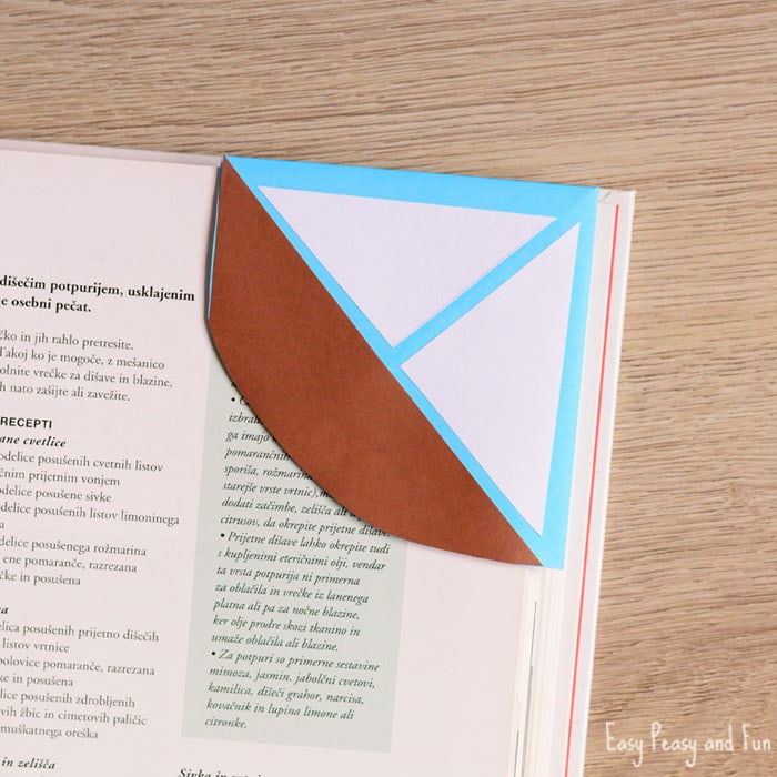 DIY Sailboat Origami Bookmark