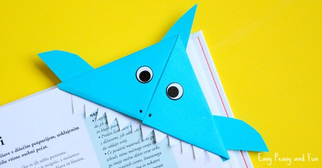 Shark Corner Bookmark Easy Peasy And Fun