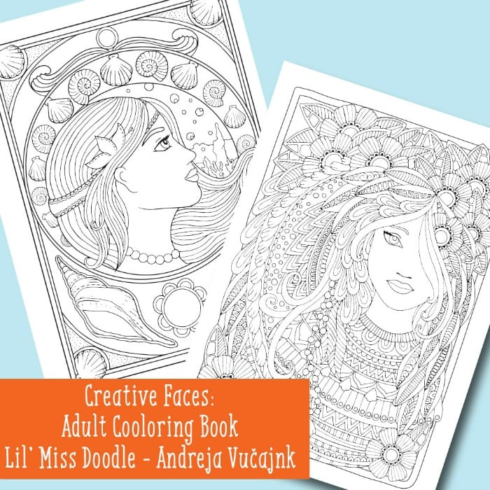Faces Coloring Book for Adults