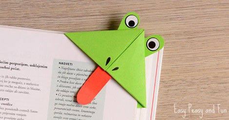 Frog Corner Bookmarks Easy Peasy
