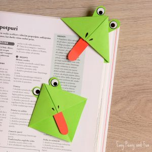 Frog Origami Corner Bookmarks
