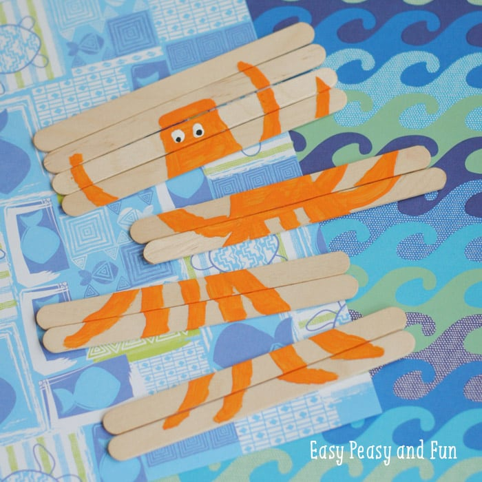Fun DIY Octopus Craft Stick Puzzle