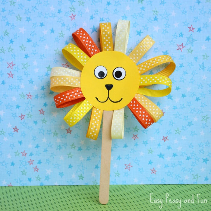 Ribbon Lion Craft for Kids