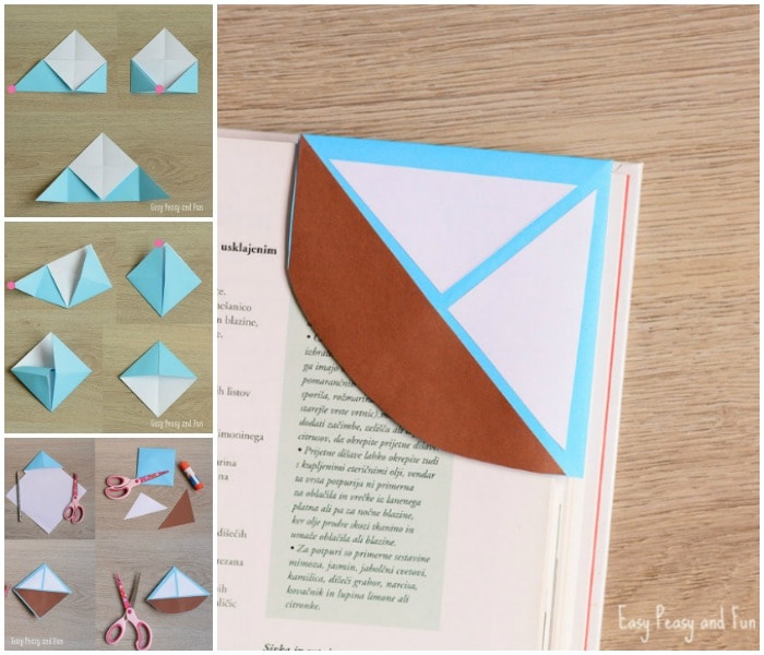 Sailboat Corner Bookmark Tutorial