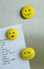 Smiley Face Fridge Magnets