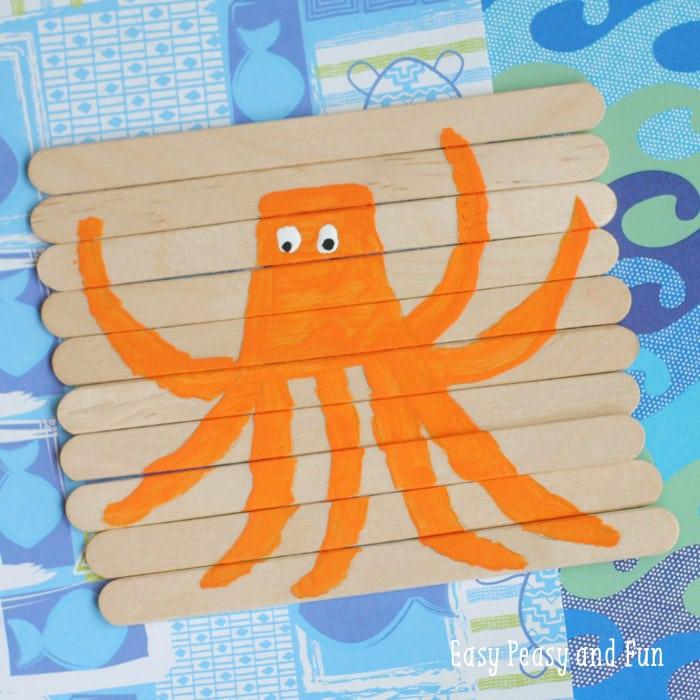 Super Cute Octopus Craft - DIY Puzzle