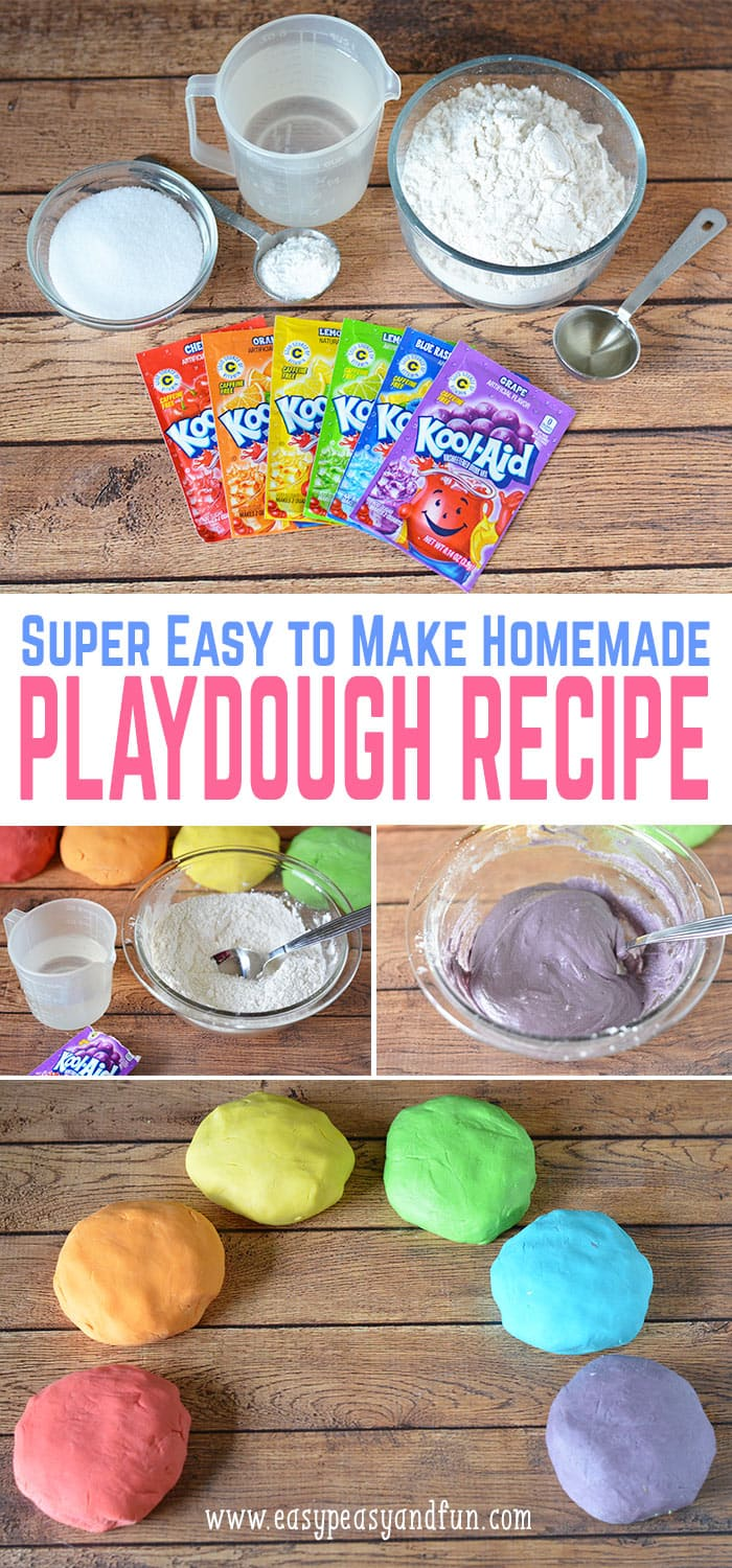 The best homemade play dough recipe - so easy to make, lovely colors and smells delicious