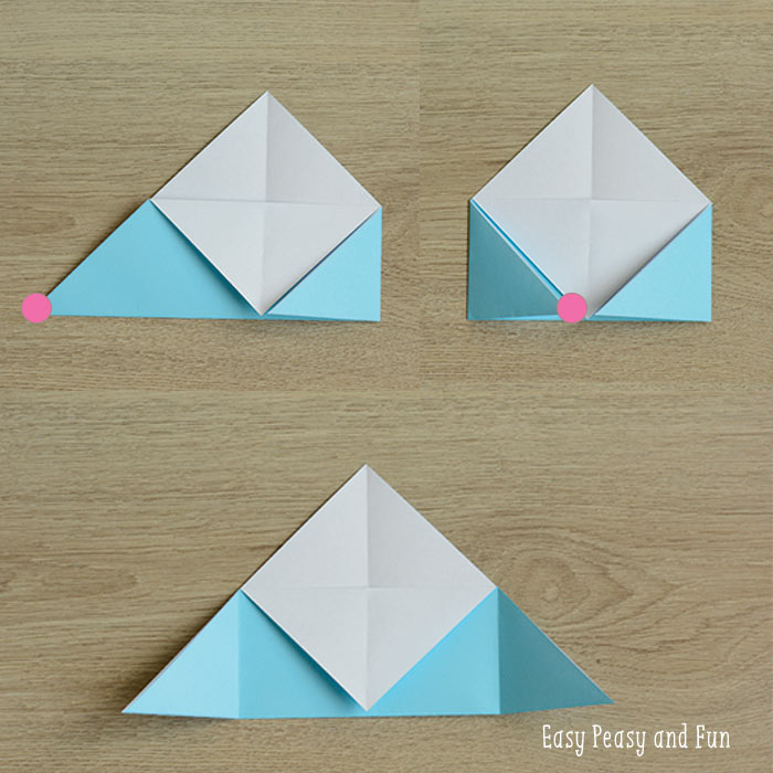 Making the origami bookmark