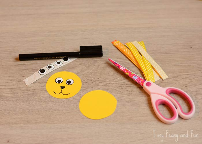 ribbon lion puppet craft ribbon puppet craft crafts for easy 5333