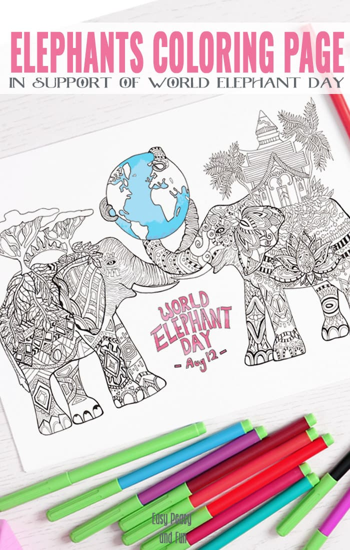 Elephants-Coloring-Page