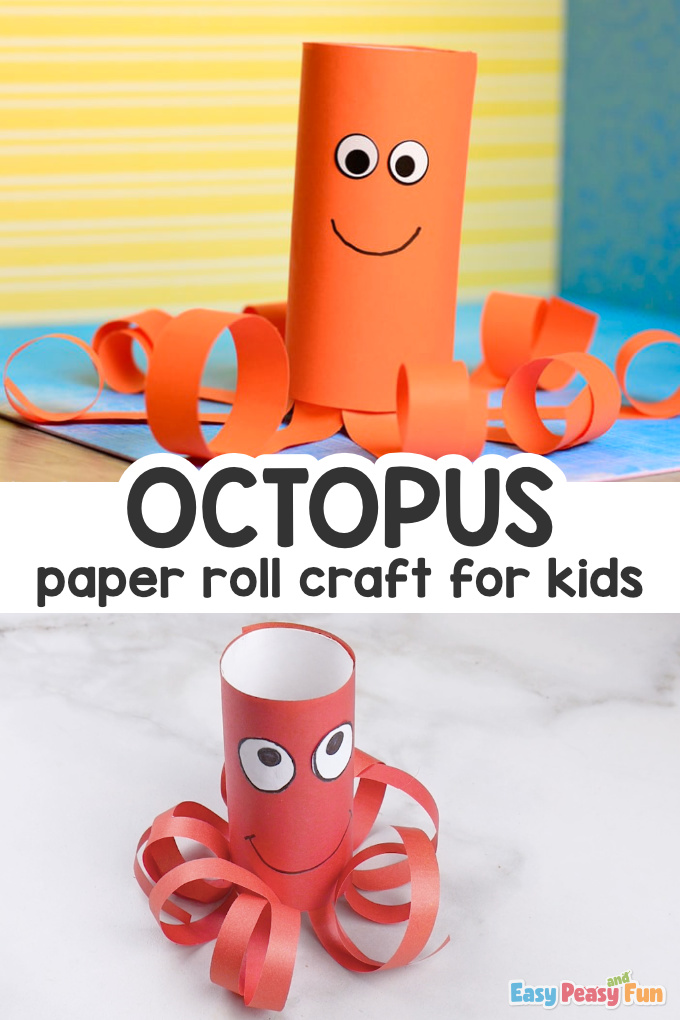 Octopus Paper Roll Craft for Kids