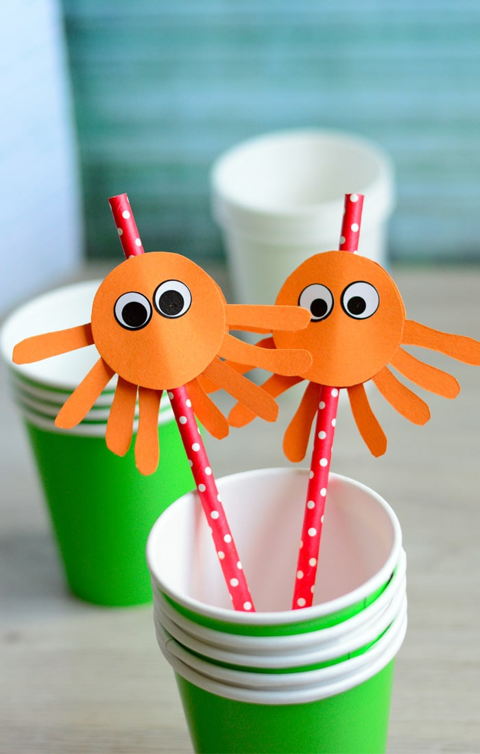 Diy Octopus Straw Toppers Easy Peasy And Fun