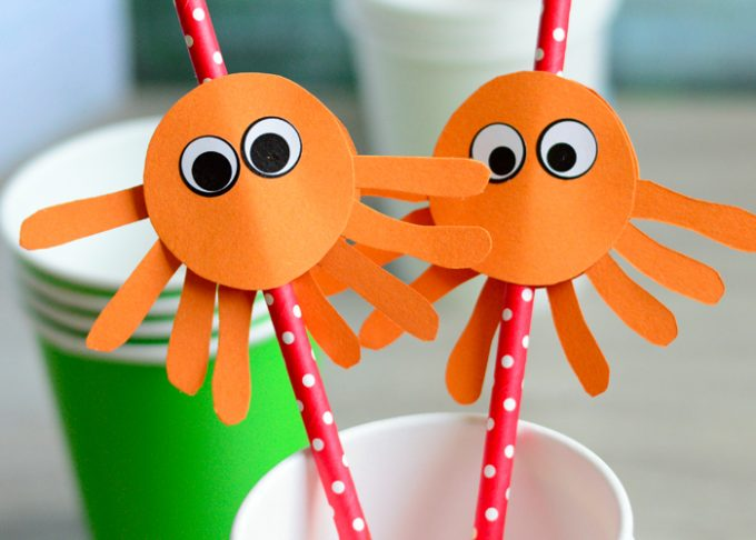 DIY Octopus Straw Toppers