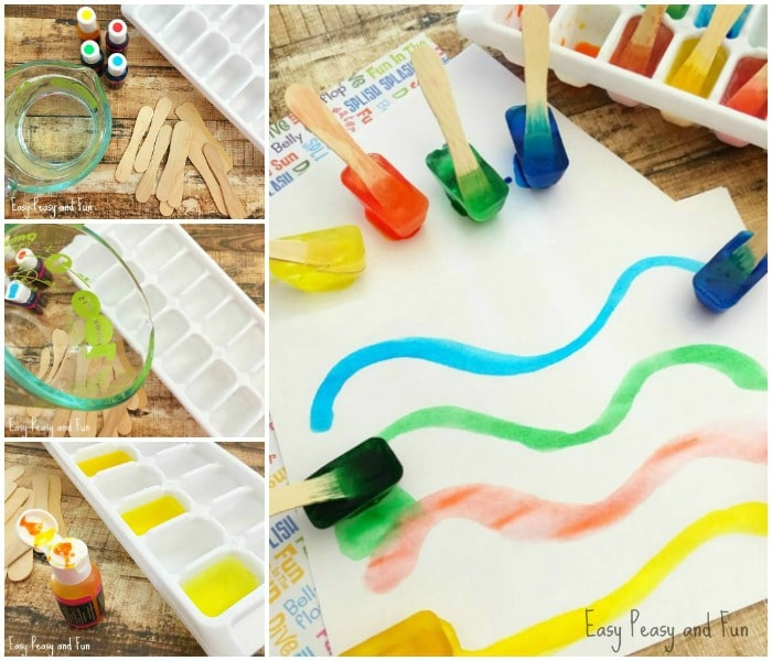 Painting With Ice – Make Your own cute Ice Paint