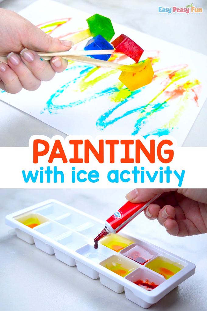 Painting With Ice Activity For Kids