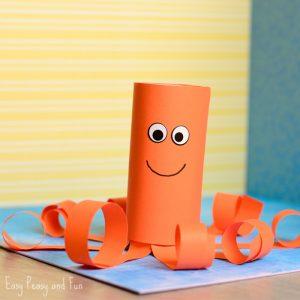 Paper Roll Octopus Craft