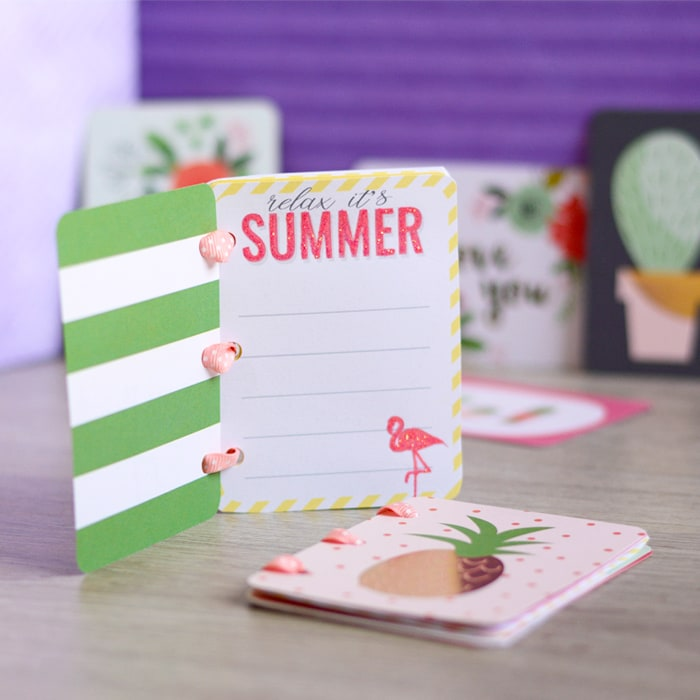 Make a mini memory book with journaling cards