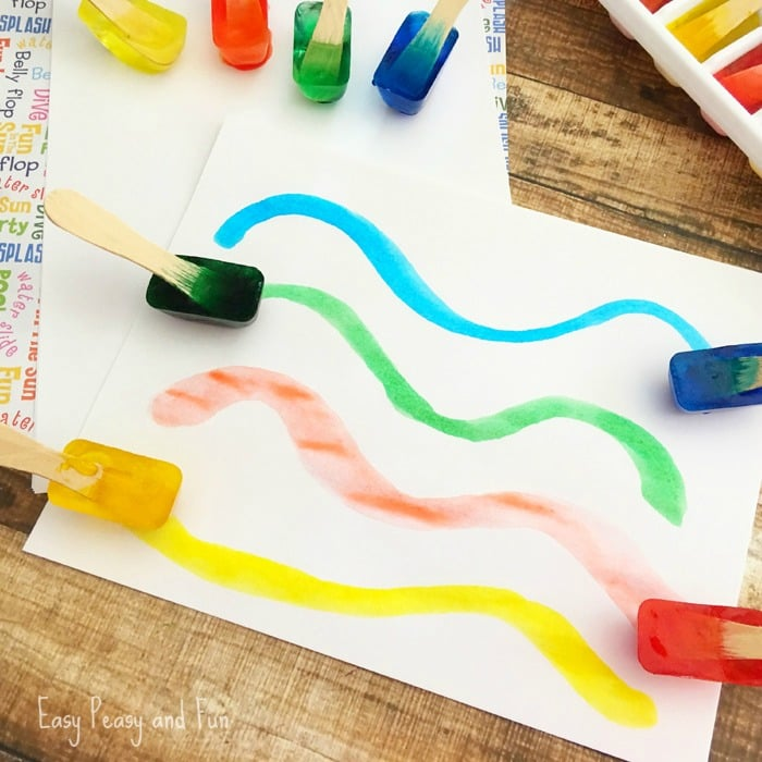 Ice Painting - Fun Summer Activity for Kids