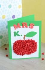 Tissue Paper Apple Card for a Teacher – Back to School Craft