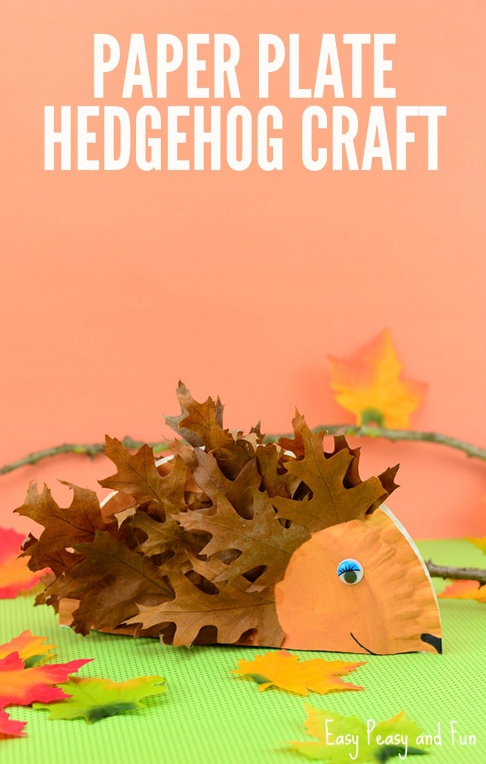 Paper Plate Hedgehog Craft Fall Crafts For Kids Easy Peasy And Fun
