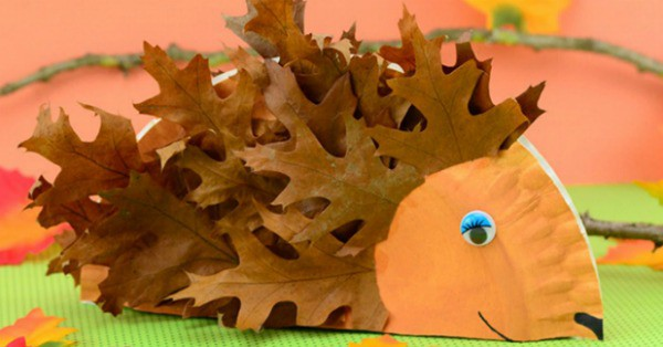 Paper Plate Hedgehog Craft Fall