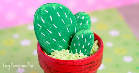 Diy Rock Cactus Craft Painting Stones Easy Peasy And Fun