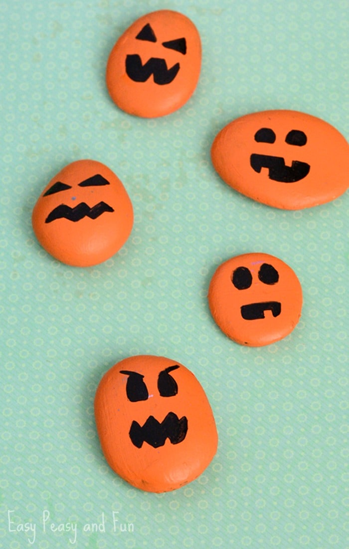 Halloween Pumpkin Rock Craft