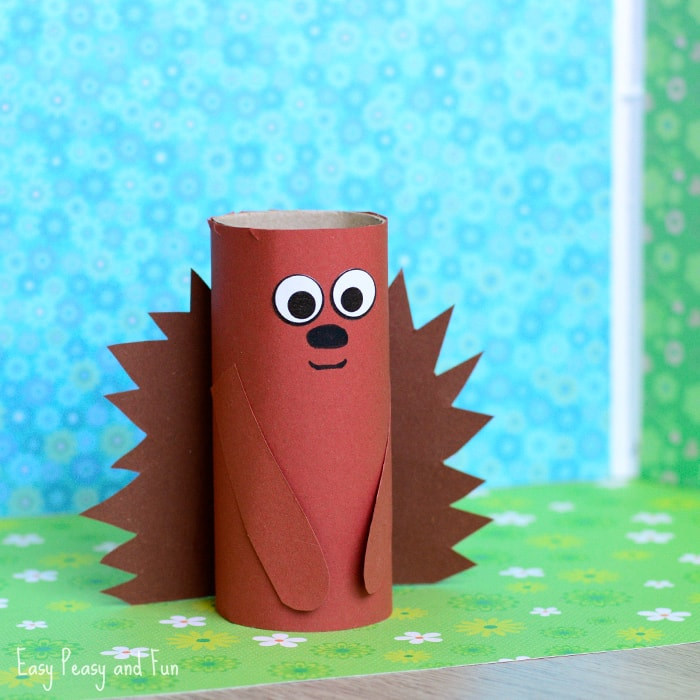 Hedgehog Paper Roll Craft for Kids