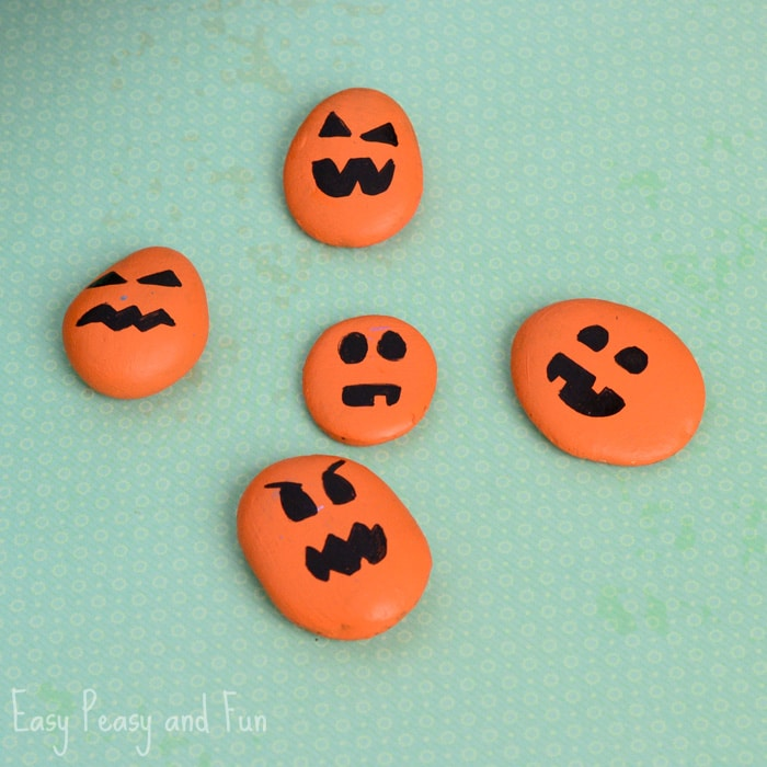 Painted Pumpkin Rock Craft – Halloween Craft