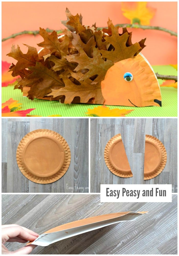 Paper Plate Hedgehog Craft for Little Ones