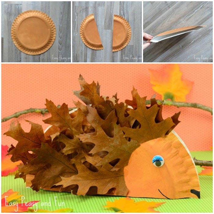 Paper Plate Hedgehog & Paper Plate Hedgehog Craft - Fall Crafts for Kids - Easy Peasy and Fun