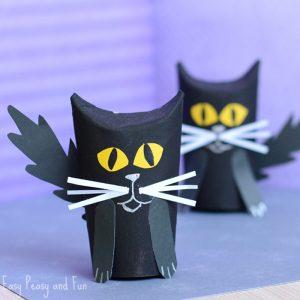 Paper Roll Black Cat