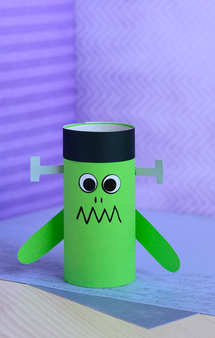 Paper Roll Frankenstein Craft Easy Peasy And Fun