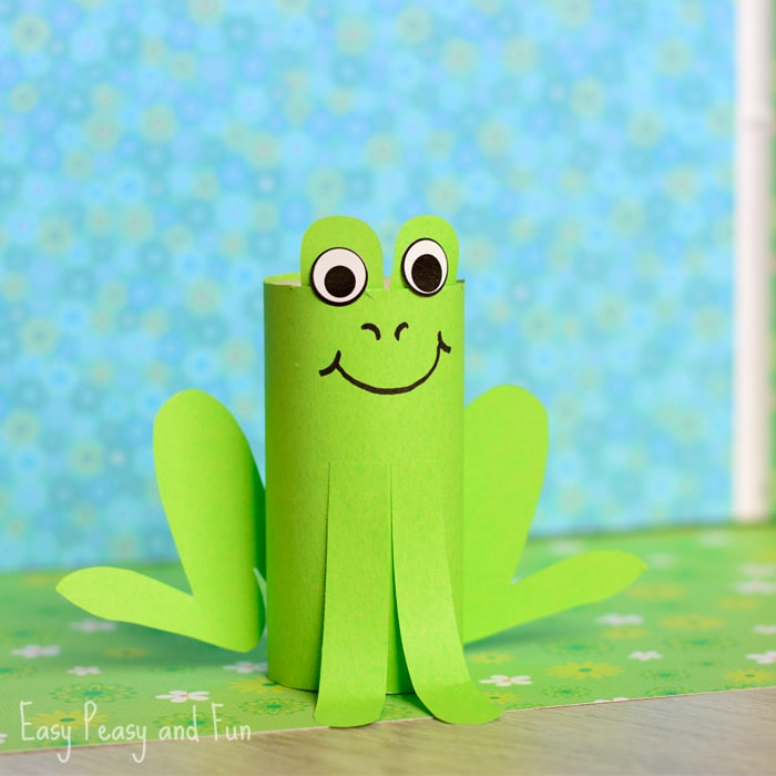 Pape Roll Frog Craft for Kids