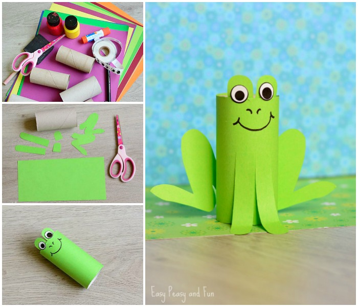 Paper Roll Frog Craft for Kids