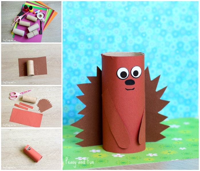 Paper Roll Hedgehog Craft for Little Ones