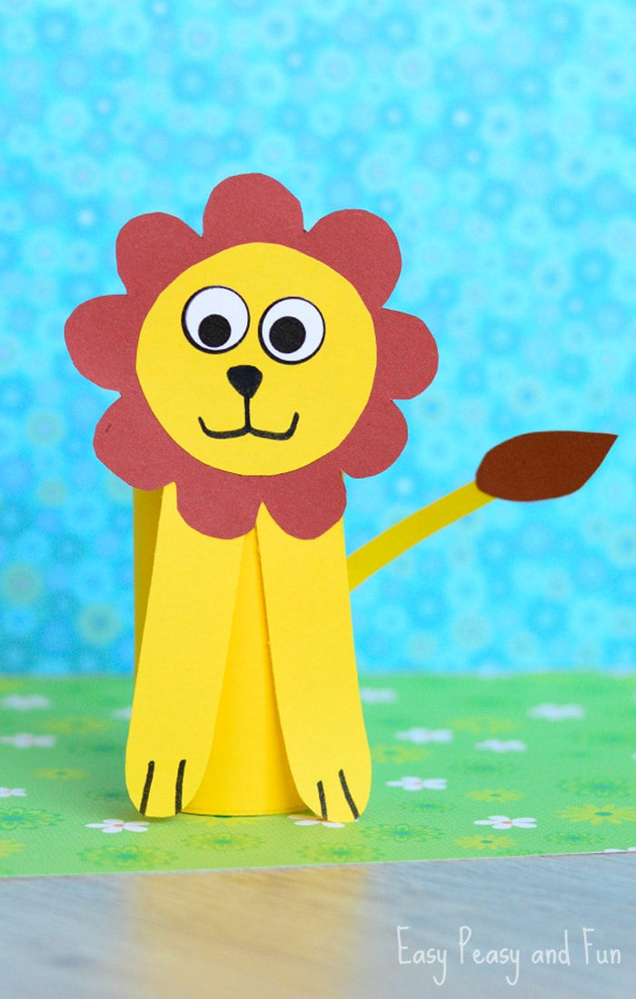 Toilet Paper Roll Lion Craft for Kids to Make - Toilet Paper roll craft ideas