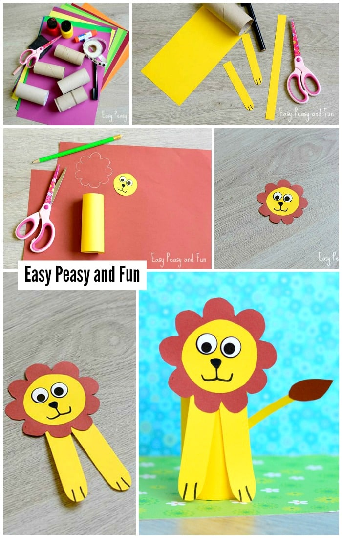 Paper Roll Lion Craft for Little Ones