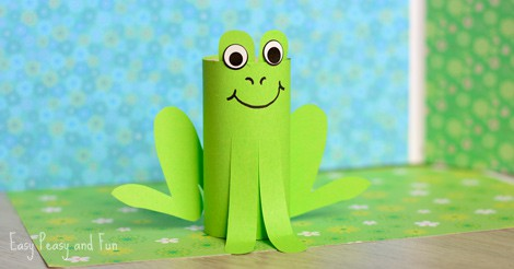 Paper Roll Frog Craft Easy Peasy And Fun