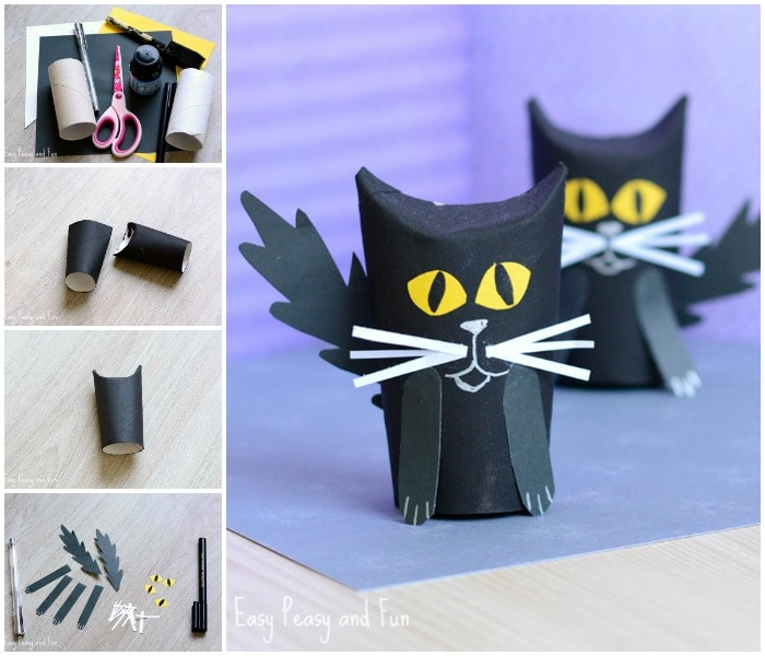 TP Roll Black Cat Craft for Kids