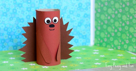 Paper Roll Hedgehog Craft For Kids Easy Peasy And Fun